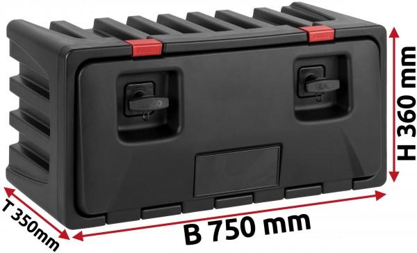 LKW Staukasten 750x350x360mm aus Kunststoff LAGO Black Dog
