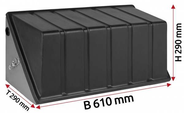 Batterie Staukasten aus Edelstahl 180 Ah