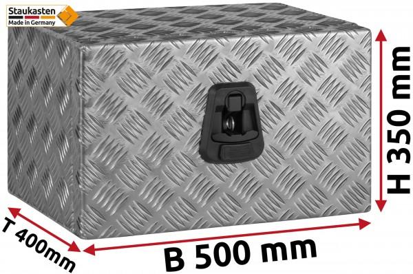 Staukasten Unterflurbox 500x350x400mm Alu Riffelblech
