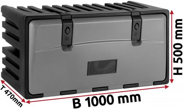LKW Staukasten 1000x500x470mm aus Kunststoff LAGO Vertigo