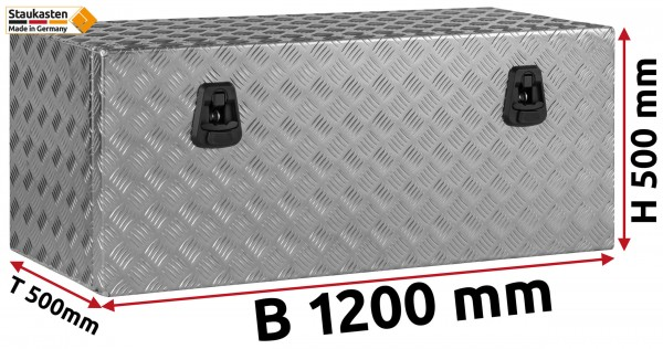 Staukasten Unterflurbox 1200x500x500mm Alu Riffelblech