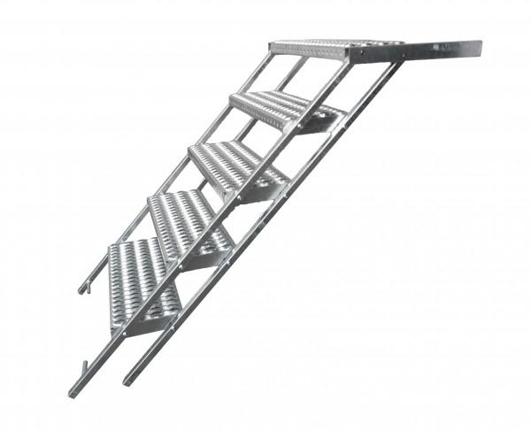 LKW Aufstiegsleiter Trittstufe ausziehbar 5 stufig Takler