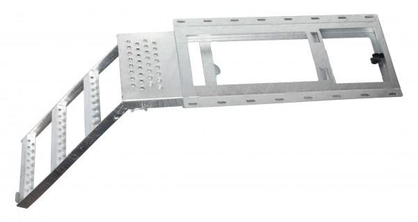 takler ausziehbare lkw aufstiegsleiter 3 stufig mit plattform feuerverzinkt freih ngend. Black Bedroom Furniture Sets. Home Design Ideas