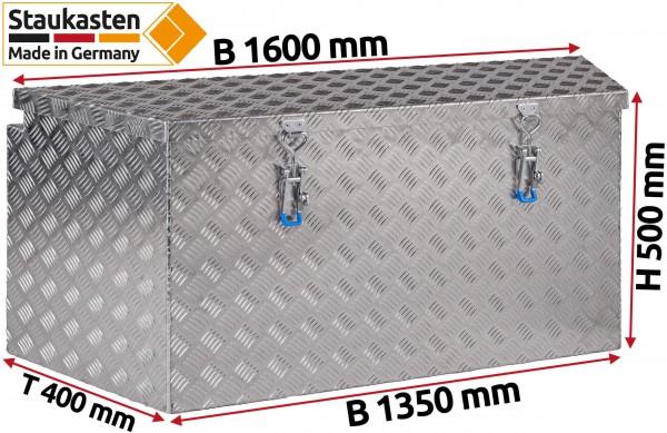PKW Anhaenger Deichselbox Trapezkasten 1600x500x400mm