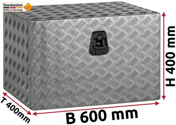 Staukasten Unterflurbox 600x400x400mm Alu Riffelblech