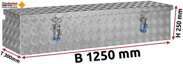 Deichselbox Alu Riffelblech - B 1250 x H 250 x T 300 mm
