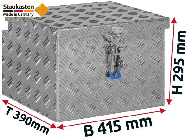 Deichselbox Alu Riffelblech - B 415 x H 295 x T 390 mm