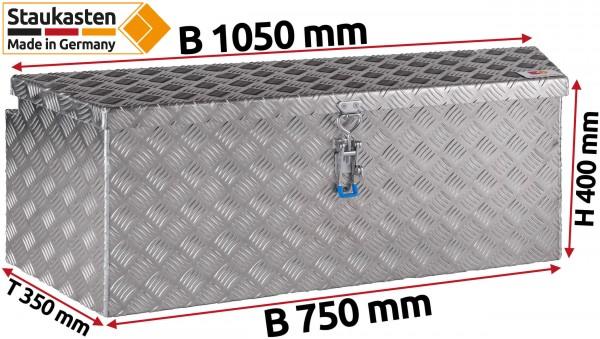 PKW Anhaenger Deichselbox Trapezkasten 1050x500x400mm