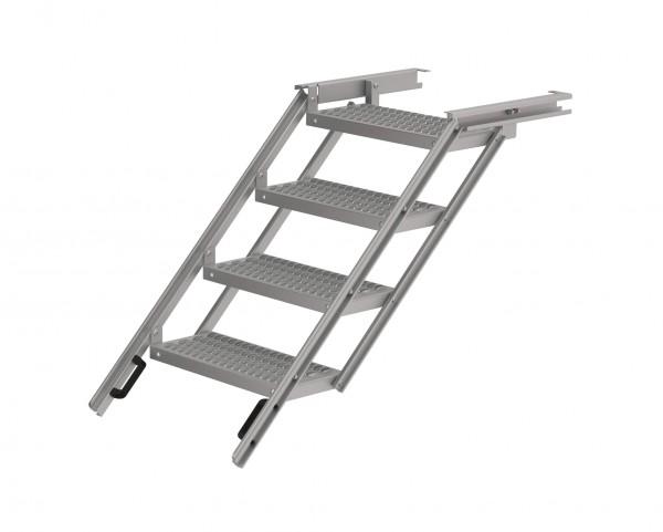 LKW Aufstiegsleiter ausziehbar aus Aluminium 4 stufig Takler