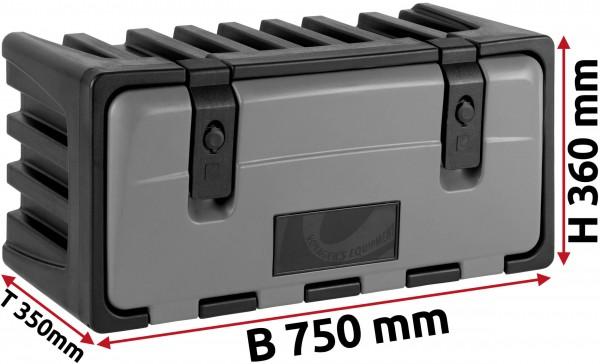 LKW Staukasten 750x350x360mm aus Kunststoff LAGO Vertigo