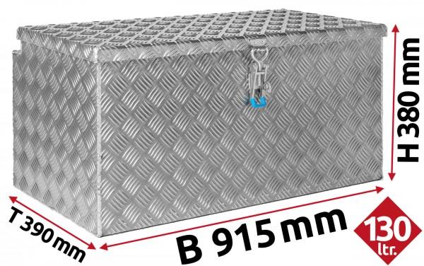 Deichselbox aus Aluminium Riffelblech 915x380x390 mm