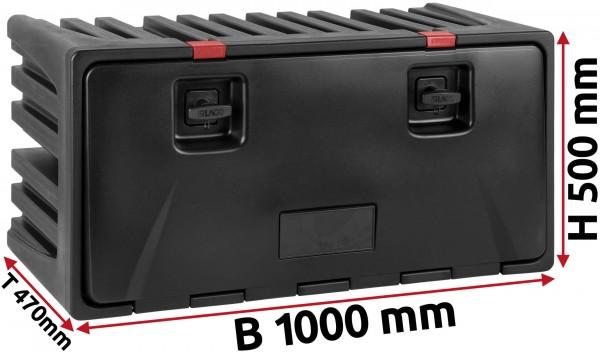 LKW Staukasten 1000x500x470mm aus Kunststoff LAGO Black Dog
