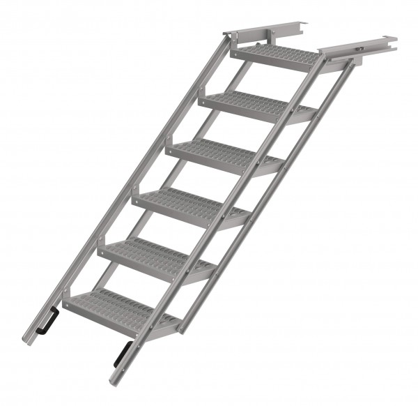 LKW Aufstiegsleiter ausziehbar aus Aluminium 6 stufig Takler