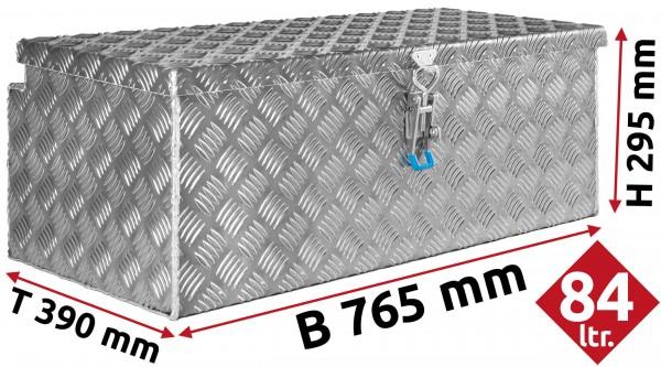 Deichselbox aus Aluminium Riffelblech 765x295x390 mm
