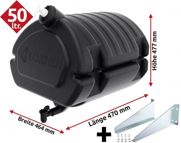 Waschwassertank mit Seifenspender 50 Ltr. Lokhen mit Halterung