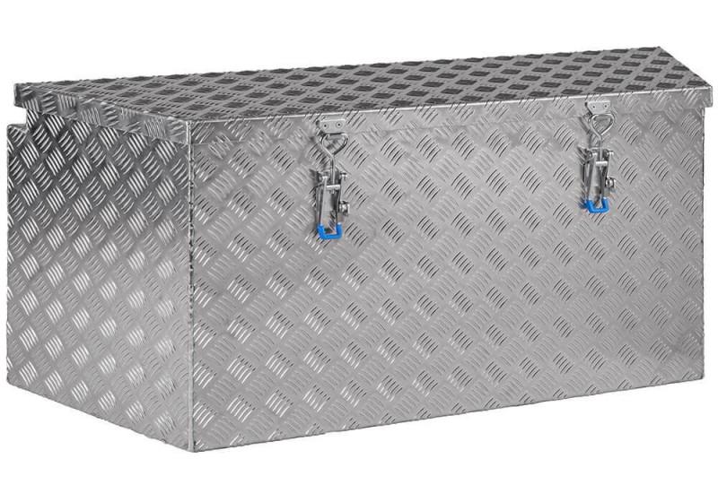 PKW Anhaenger Deichselbox aus Aluminium Riffelblech