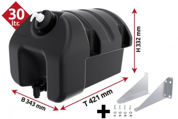 LOKHEN Waschwassertank 30 Liter Kunststoff Halterung