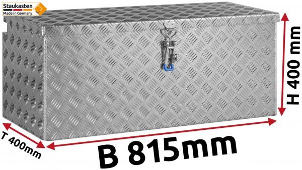 Deichselbox Alu Riffelblech - B 815 x H 400 x T 400 mm