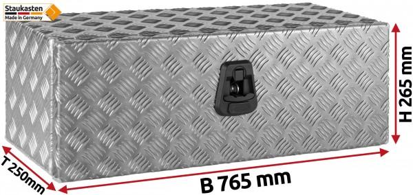 Unterflurbox Truckbox 765x265x250mm aus Alu Riffelblech