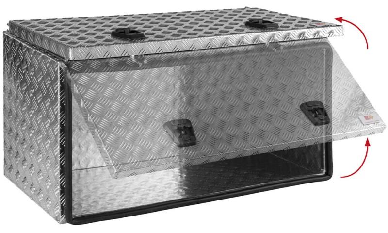 Aluminium Staukasten mit Schubdeckel