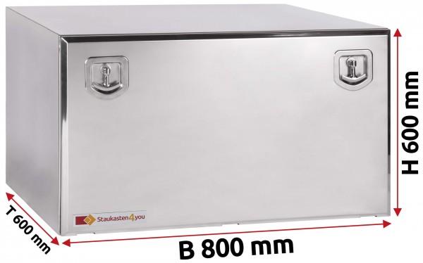 LKW Staukasten 800x600x600mm aus Edelstahl hochglanzpoliert