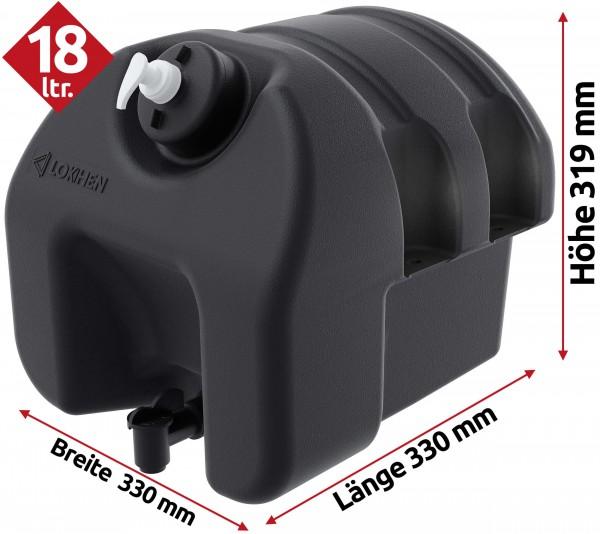 Waschwassertank 18 Liter mit Seifenspender