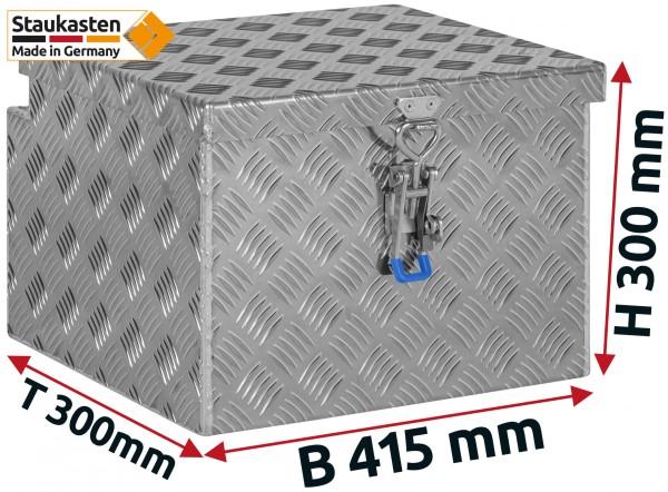 Deichselbox Alu Riffelblech - B 415 x H 300 x T 300 mm