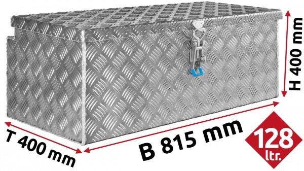 Deichselbox aus Aluminium Riffelblech 815x400x400 mm