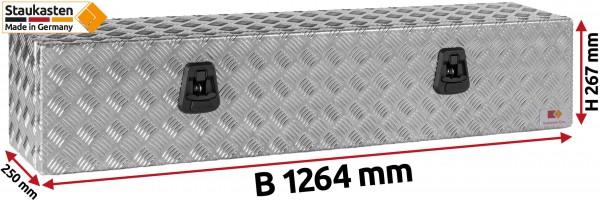 Unterflurbox Truckbox 1264x267x250mm aus Alu Riffelblech