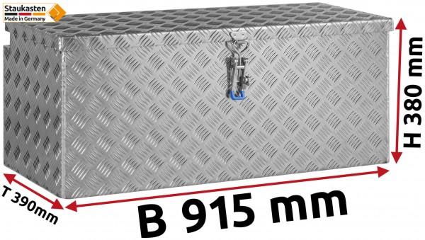 Deichselbox Alu Riffelblech - B 915 x H 380 x T 390 mm