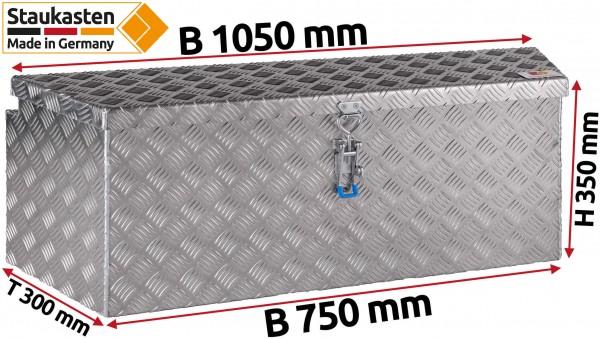 PKW Anhaenger Deichselbox Trapezkasten 1050x350x300mm