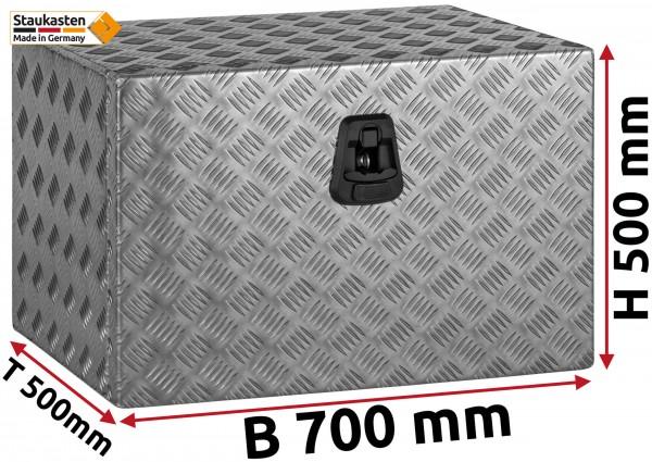 Staukasten Unterflurbox 700x500x500mm Alu Riffelblech