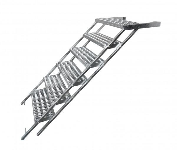 LKW Aufstiegsleiter Trittstufe ausziehbar 6 stufig Takler