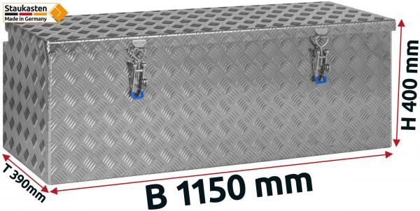 Deichselbox Alu Riffelblech - B 1150 x H 400 x T 390 mm