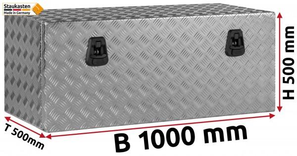 Staukasten Unterflurbox 1000x500x500mm Alu Riffelblech