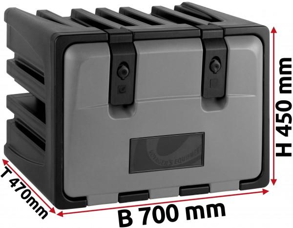 LKW Staukasten 700x450x470mm aus Kunststoff LAGO Vertigo