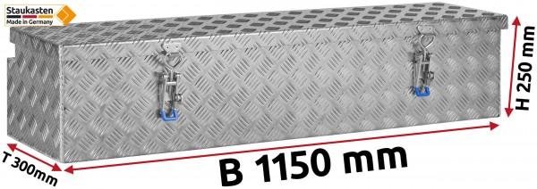 Deichselbox Alu Riffelblech - B 1150 x H 250 x T 300 mm