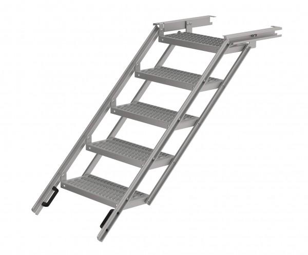 LKW Aufstiegsleiter ausziehbar aus Aluminium 5 stufig Takler