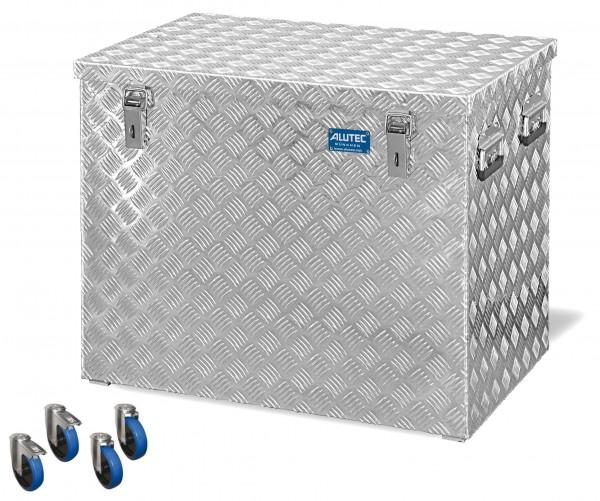 PKW Pritschenbox 722x525x645mm Aluminium Riffelblech Alutec mit Rollen