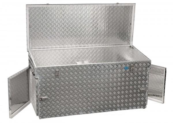 PKW Pritschenbox 1700x700x850mm Aluminium Riffelblech Alutec