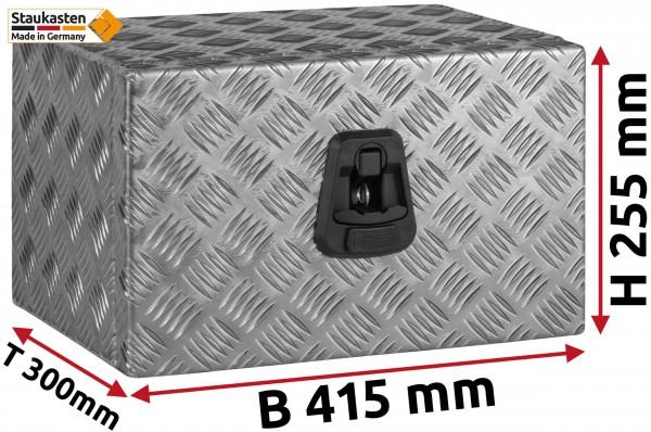 Unterflurbox Truckbox 714x257x300mm aus Alu Riffelblech