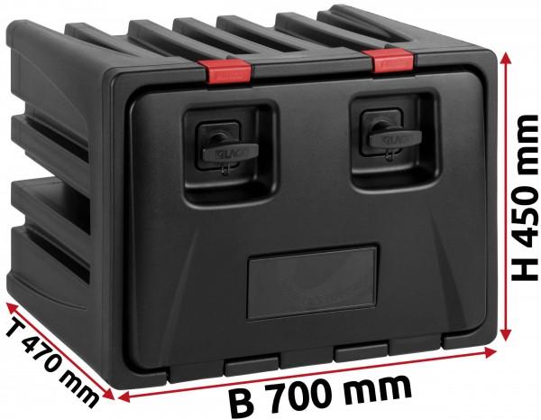 LKW Staukasten 700x450x470mm aus Kunststoff LAGO Black Dog