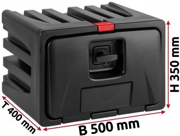 LKW Staukasten 500x350x400mm aus Kunststoff LAGO Black Dog