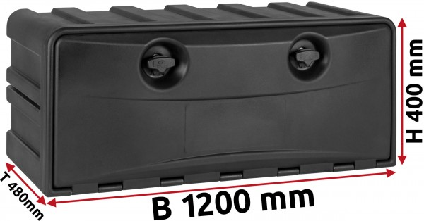 LKW Staukasten 1200x400x480mm aus Kunststoff Copar
