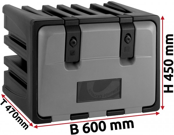 LKW Staukasten 600x450x470mm aus Kunststoff LAGO Vertigo