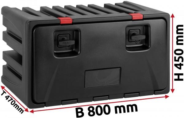 LKW Staukasten 800x450x470mm aus Kunststoff LAGO Black Dog