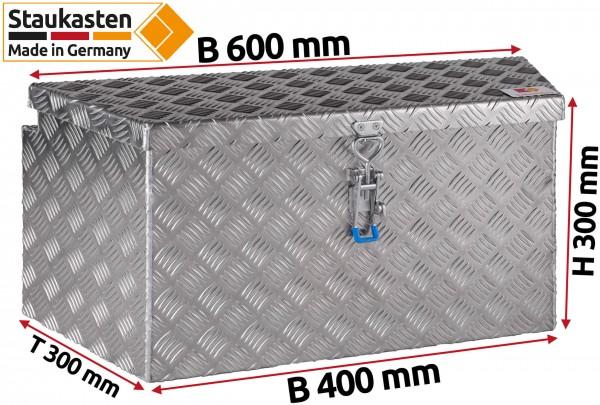 PKW Anhaenger Deichselbox Trapezkasten 600x300x300mm