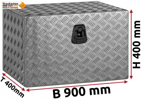 Staukasten Unterflurbox 900x400x400mm Alu Riffelblech