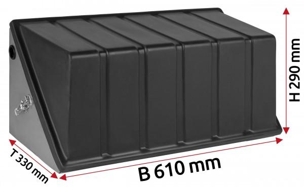 Batterie Staukasten aus Edelstahl 230 Ah