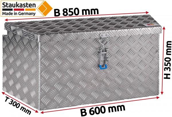 PKW Anhaenger Deichselbox Trapezkasten 850x350x300mm